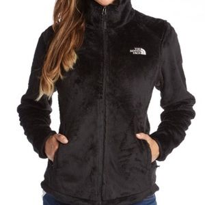 Black fuzzy NorthFace jacket
